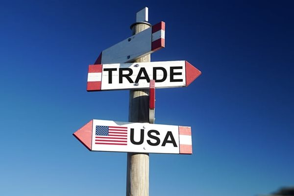 Trade and USA directional signs